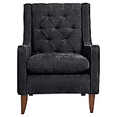 Chartwell Chenille Armchair, Ebony