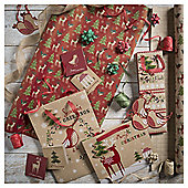 Tom Smith Christmas Wrapping Paper and Accessories Selection Pack