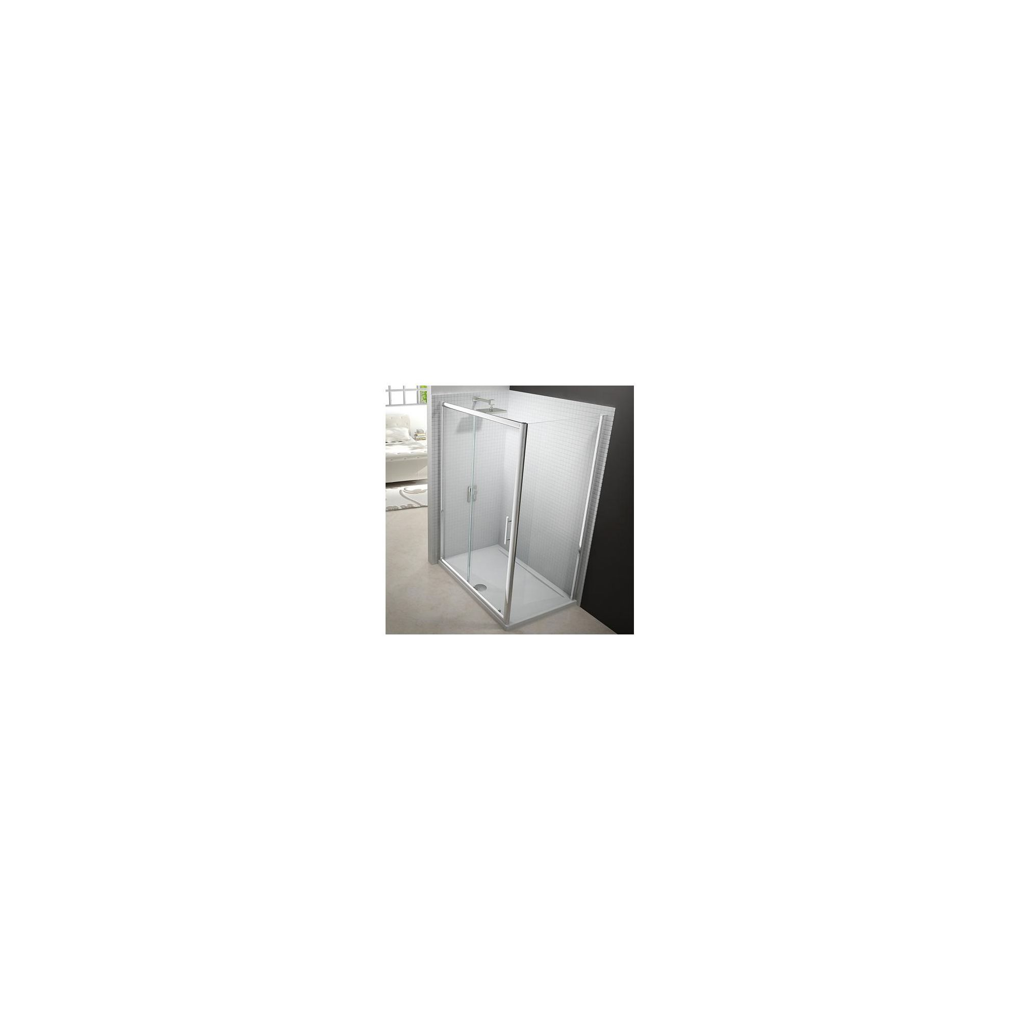 Merlyn Series 6 Sliding Shower Door, 1600mm Wide, Chrome Frame, 6mm Glass at Tesco Direct