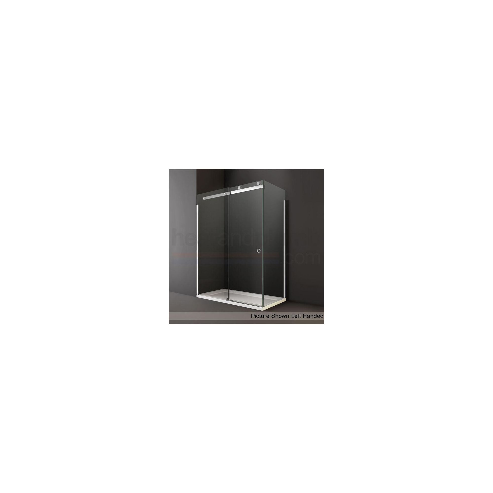 Merlyn Series 10 Sliding Door Shower Enclosure, 1000mm x 800mm, Low Profile Tray, 10mm Glass at Tesco Direct