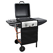 Tesco 2 Burner Gas BBQ with Side Burner
