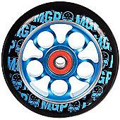 Madd Gear MGP Aero Skull Wheel 100mm inc Bearings - Blue