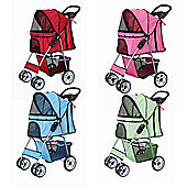Confidence Deluxe Four Wheel Pet Stroller Dog Pushchair Trolley Jogger Sky Blue