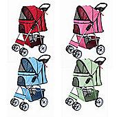 Confidence Deluxe Four Wheel Pet Stroller Sky Blue