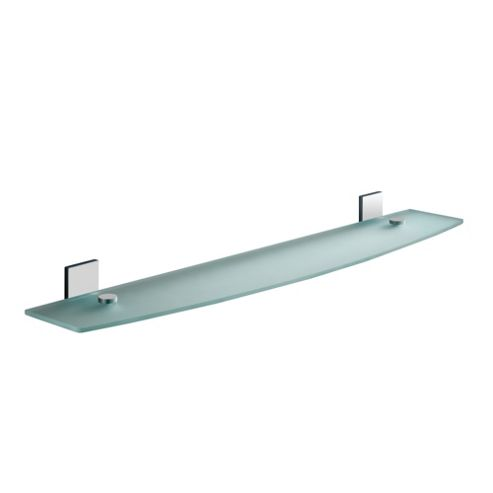 Gedy Maine Semi-frosted Glass Shelf in Chrome