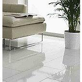 Westco 8mm Glossy White Tile Laminate Flooring