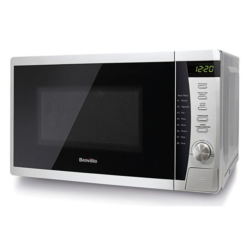 buy breville vmw200 solo 20l microwave oven 800w silver. Black Bedroom Furniture Sets. Home Design Ideas