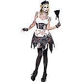 Zombie French Maid  - Adult Costume Size: 8-10