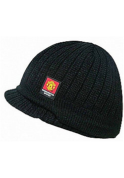 Manchester United FC Knitted Peaked Beanie Hat