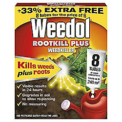 Weedol Rootkill Systemic Weedkiller, 6 Tubes plus 2 Free