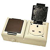 Smj Ep213b Outdoor Socket 13A Twin
