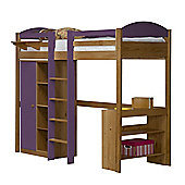 Maximus High Sleeper Set 1 Central Ladder Antique With Lilac Details