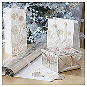 Gold Lace Doily Christmas Wrapping Paper, 4m