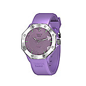 Tresor Paris Watch - ISL - Stainless Steel Bezel & Crystal Dial - Lilac Silicone Strap - 44mm