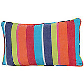 Homescapes Cotton Multi Coloured Stripe Scatter Cushion, 30 x 50 cm