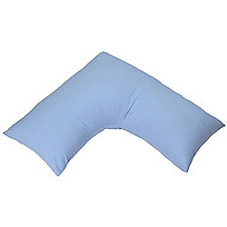 Homescapes Blue Egyptian Cotton V Shaped Pillow Case 200 TC
