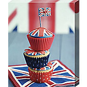 Howard Shooter Union Jack Cupcake Stack Canvas Print