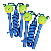 Bigjigs Toys Coloured Skipping Rope (Pack of 2 - Blue Handle Frog)