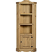 Corona Mexican Corner Unit with Shelfs Distressed Waxed Pine