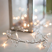 Pearl Beaded Indoor Fairy Light Garland