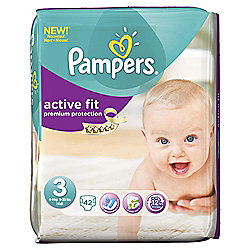 Pampers Active Fit Size 3 Essential Pack - 42 nappies