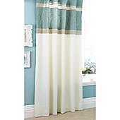 Catherine Lansfield Home Fine Luxury Collection Lois Curtains Duckegg 168cm wide x 183cm drop (66x72 inches)