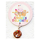 Children's Mini Chocolate Doughnut Clip on Charm