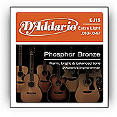 D Addario Phosphor Extra Light Acoustic Guitar Strings
