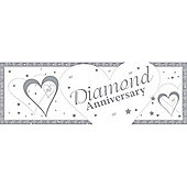 Loving Hearts Diamond Anniversary Giant Banner (each)