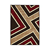 Think Rugs Matrix Brown/Red Rug - 120 cm x 170 cm (3 ft 9 in x 5 ft 7 in)