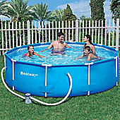 Bestway 10 ft Steel Pro Frame Pool with 330 Gal Pump