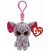 "Ty Beanie Boo Boos 3"" Key Clip - Specks the Elephant"
