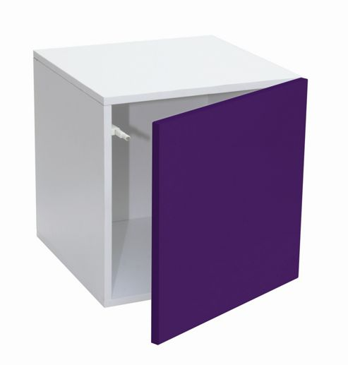 Phoenix Group Prana Cubic Cabinet with Door - Purple