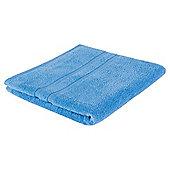 Tesco 100% Combed Cotton Bath Sheet - Blue