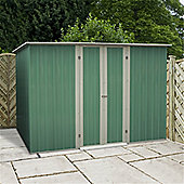 8ft x 6ft Value Pent Metal Shed (2.42m x 1.83m) + Free Anchor Kit