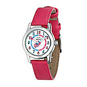 Children's D for Diamond Time Teacher Fuschia Pink Watch