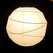 Loxton Lighting Irregular Bamboo Paper Lantern - Ivory