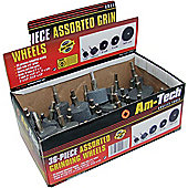Am-Tech Grinding Wheels in Display Box (36 Pieces)