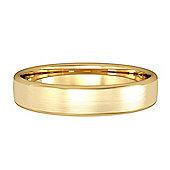 9ct Yellow Gold 4mm Bombe Court Satin-Brushed Wedding Ring