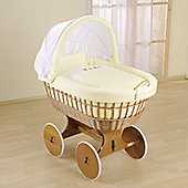 Leipold Baby Wicker Hood Crib