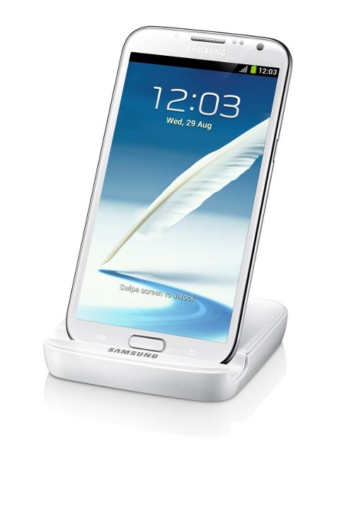 Samsung Original Battery Charger Stand for Samsung Galaxy Note 2/II - White