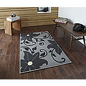 Think Rugs Modena Grey Budget Rug - 150 cm x 210 cm (4 ft 11 in x 6 ft 11 in)