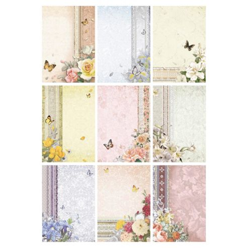 Floral Printed Paper, 18 Sheets