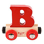 Bigjigs Rail Rail Name Letter B (Red)