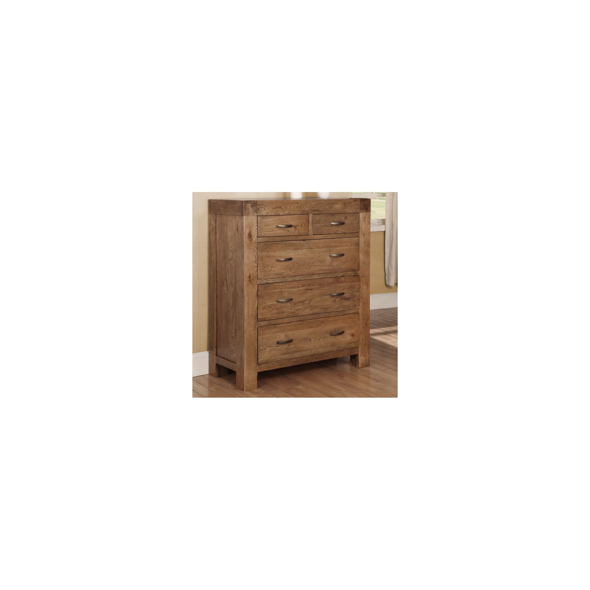Hawkshead Santana Two Over Three Chest in Rich Patina at Tesco Direct