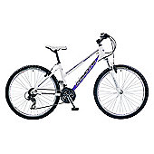 "19"" Coyote Venice Beach Ladies' Alloy FS, 21-Speed, White"