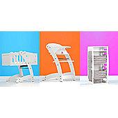 Ninnananna Multy Swinging Crib/Highchair/Seat - White