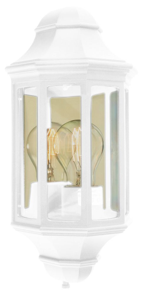 Norlys Mini Malaga Outdoor Half Wall Lantern - White