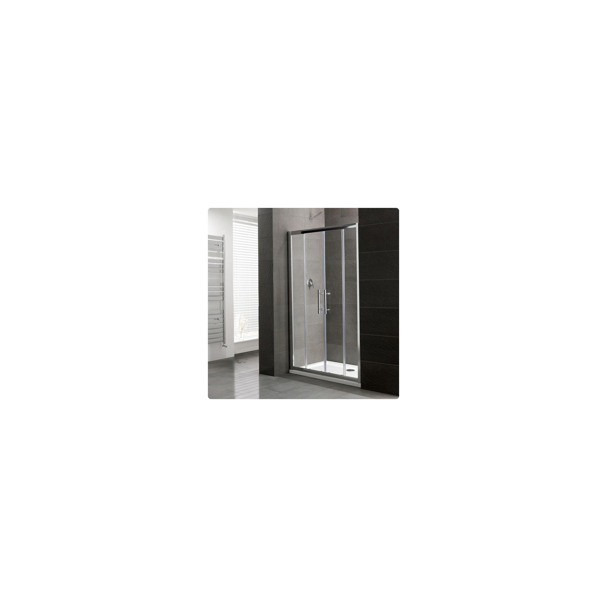 Duchy Select Silver Double Sliding Door Shower Enclosure, 1700mm x 800mm, Standard Tray, 6mm Glass at Tesco Direct