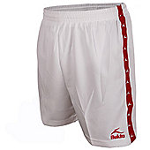 Bukta Retro George Best Style Football Shorts White / Red Youth XL